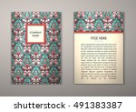 flyer template with abstract...   Shutterstock .eps vector #491383387