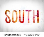 "the word ""south"" written in... 