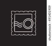 philately vector sketch icon... | Shutterstock .eps vector #491401909