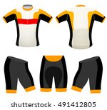sports cycling vest vector... | Shutterstock .eps vector #491412805