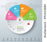 template modern info graphic... | Shutterstock .eps vector #491413684