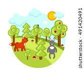 forest vector | Shutterstock .eps vector #491420491