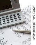 calculator  pen and accounting... | Shutterstock . vector #49142824