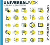 set of universal icons on html... | Shutterstock .eps vector #491440291