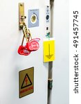 multi or group lockout tagout   ... | Shutterstock . vector #491457745