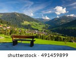 the alpine village of alpbach... | Shutterstock . vector #491459899