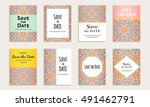 save the date. set of cards...   Shutterstock .eps vector #491462791