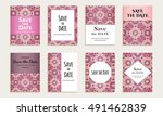 save the date. set of cards... | Shutterstock .eps vector #491462839