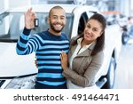 off we go. portrait of a happy... | Shutterstock . vector #491464471