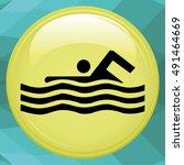 swim icon | Shutterstock .eps vector #491464669
