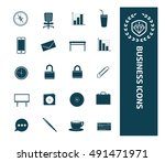 business and office icon set... | Shutterstock .eps vector #491471971