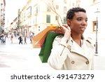portrait of a beautiful african ...   Shutterstock . vector #491473279