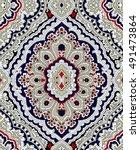 rich paisley wallpaper... | Shutterstock .eps vector #491473864