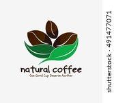 coffee logo design vector... | Shutterstock .eps vector #491477071
