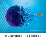 destructive force | Shutterstock .eps vector #491485894