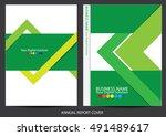 annual report cover design | Shutterstock .eps vector #491489617