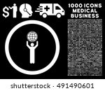 globalist icon with 1000... | Shutterstock .eps vector #491490601