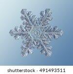 Real Crystal Snowflake