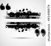 quote blank.grunge box.border... | Shutterstock .eps vector #491498974