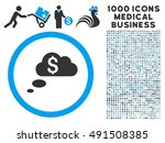 richness dream clouds icon with ... | Shutterstock . vector #491508385