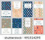 vector set of card templates.... | Shutterstock .eps vector #491514295