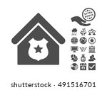 police office pictograph with... | Shutterstock .eps vector #491516701