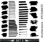 set of different grunge brush... | Shutterstock .eps vector #491568655