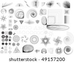 collection of lots of different ...   Shutterstock .eps vector #49157200