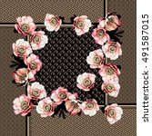 Japanese Shawl Design. Square...