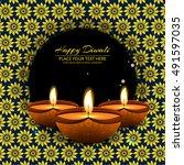 abstarct happy diwali background | Shutterstock .eps vector #491597035