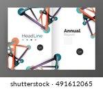 molecule annual report. vector...   Shutterstock .eps vector #491612065