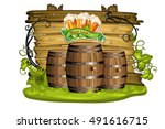 Wood Banner With Clover  Beer...