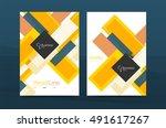 set of modern geometric... | Shutterstock .eps vector #491617267