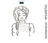 vector illustration of female...   Shutterstock .eps vector #491630761