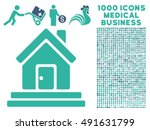 house front door icon with 1000 ... | Shutterstock .eps vector #491631799