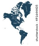 north and south america high... | Shutterstock .eps vector #491644405