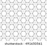 seamless geometric line pattern ... | Shutterstock .eps vector #491650561