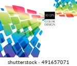 colorful abstract background ... | Shutterstock .eps vector #491657071