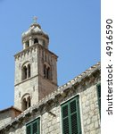 Old church of white stone at Dubrovnik, Croatia - stock photo