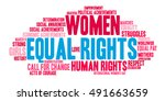 equal rights word cloud on a... | Shutterstock .eps vector #491663659