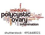 polycystic ovary word cloud... | Shutterstock . vector #491668021