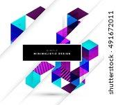 geometric background template... | Shutterstock .eps vector #491672011
