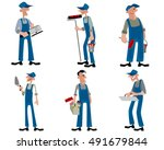 vector illustration of a six... | Shutterstock .eps vector #491679844