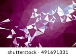 abstract low poly background ... | Shutterstock . vector #491691331