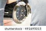 car service and technician... | Shutterstock . vector #491695015