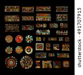 ethnic handmade ornament for... | Shutterstock .eps vector #491707915