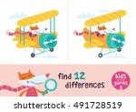 find the differences. kids... | Shutterstock .eps vector #491728519
