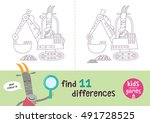 find the differences. kids... | Shutterstock .eps vector #491728525
