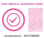 pink ok vector rounded icon....