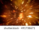 abstract brown background.... | Shutterstock . vector #491738671